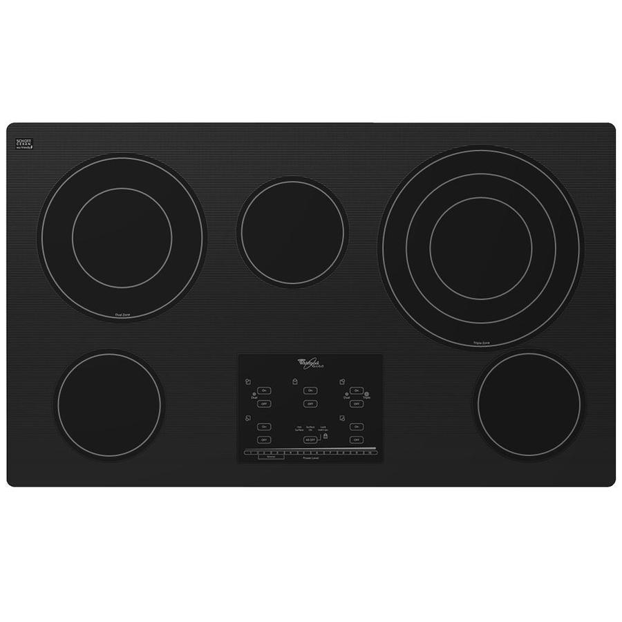 Whirlpool Gold 5-Element Smooth Surface Electric Cooktop (Black) (Common: 36-in; Actual 36.313-in)