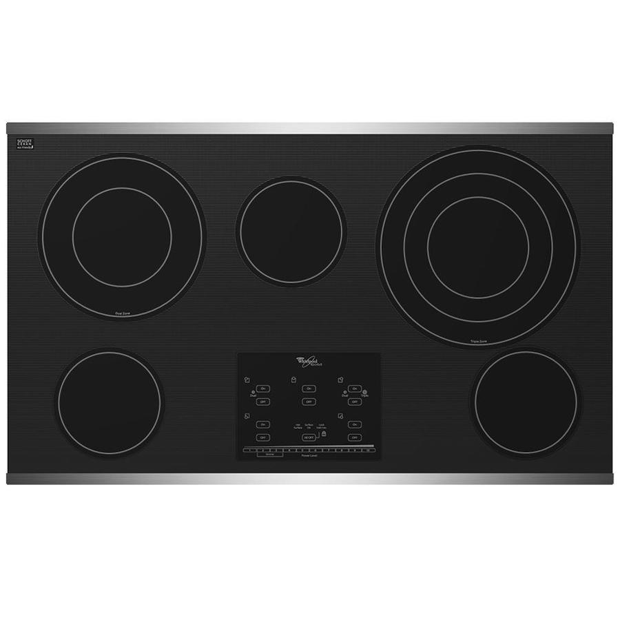 Whirlpool Electric Cooktop ~ Shop whirlpool gold element smooth surface electric