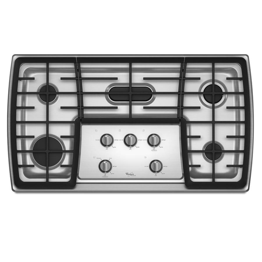 Whirlpool Gold 5-Burner Gas Cooktop (Stainless) (Common: 36-in; Actual 37.625-in)