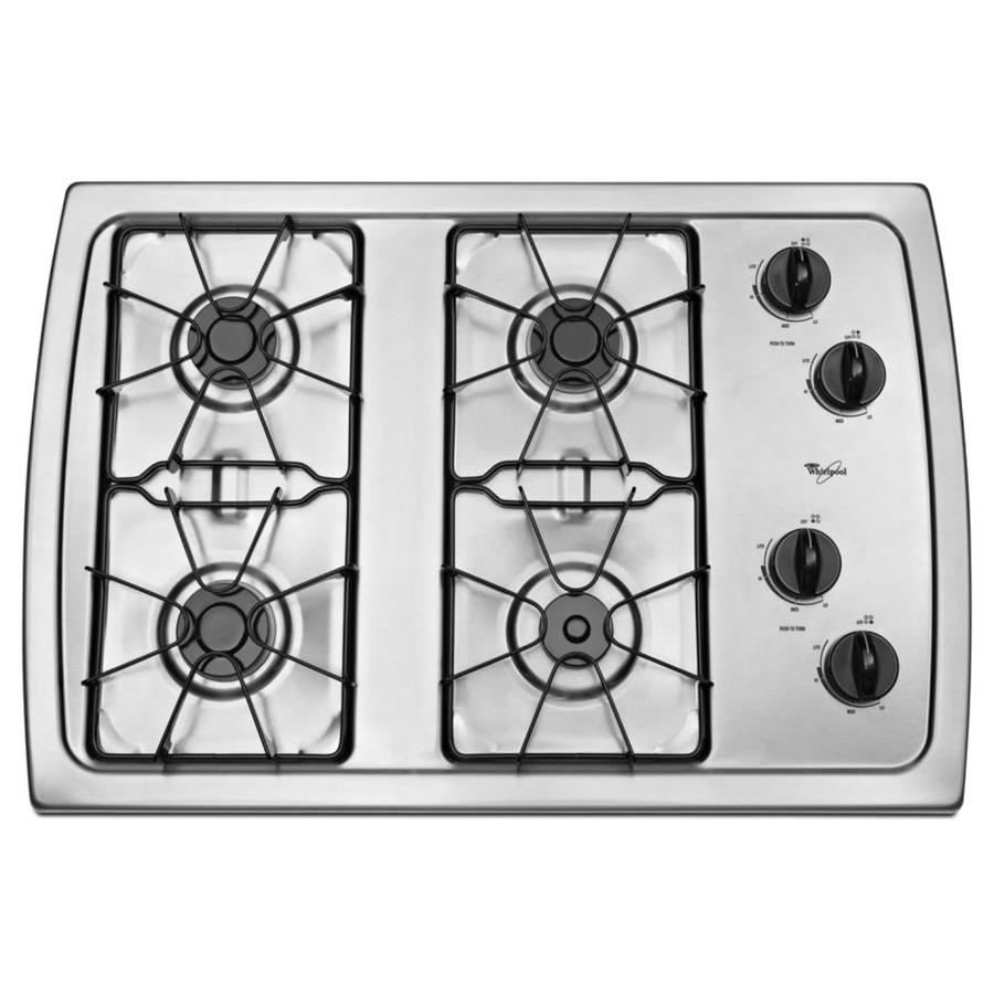 Whirlpool Gas Cooktop (Stainless Steel) (Common: 30-in; Actual: 31.438-in)