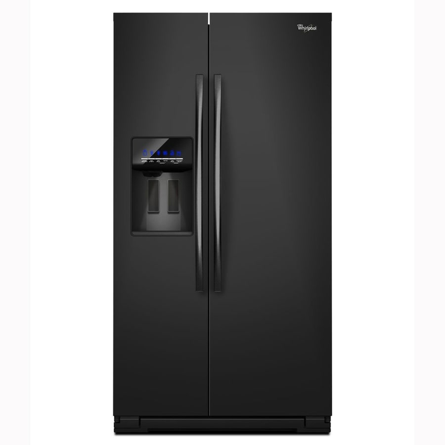 Whirlpool 26.4-cu ft Side-by-Side Refrigerator with Single Ice Maker (Black)