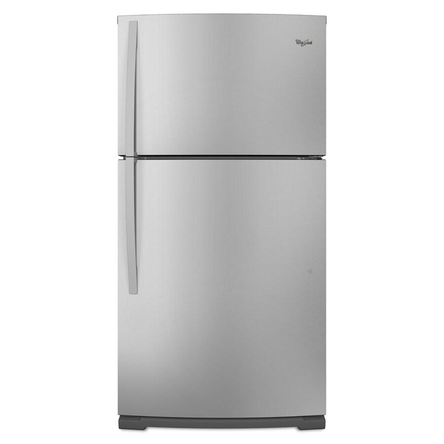 Whirlpool 21.2 cu ft Top-Freezer Refrigerator (Stainless Steel) ENERGY STAR