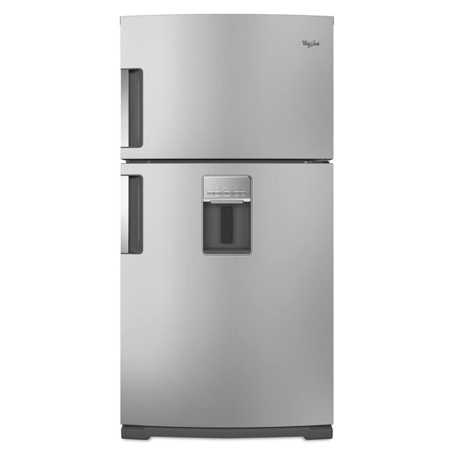 Whirlpool 21 2 Cu Ft Top Freezer Refrigerator With Single Ice Maker Stainless Steel