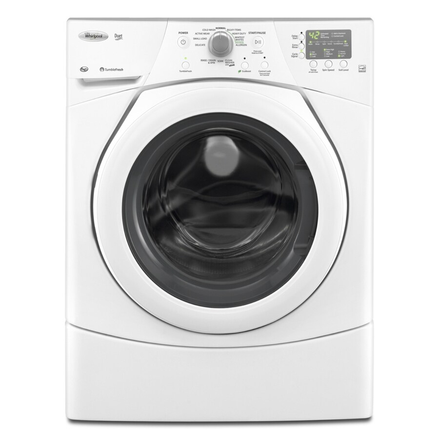 Whirlpool Duet 3.5-cu ft High-Efficiency Stackable Front-Load Washer (White)