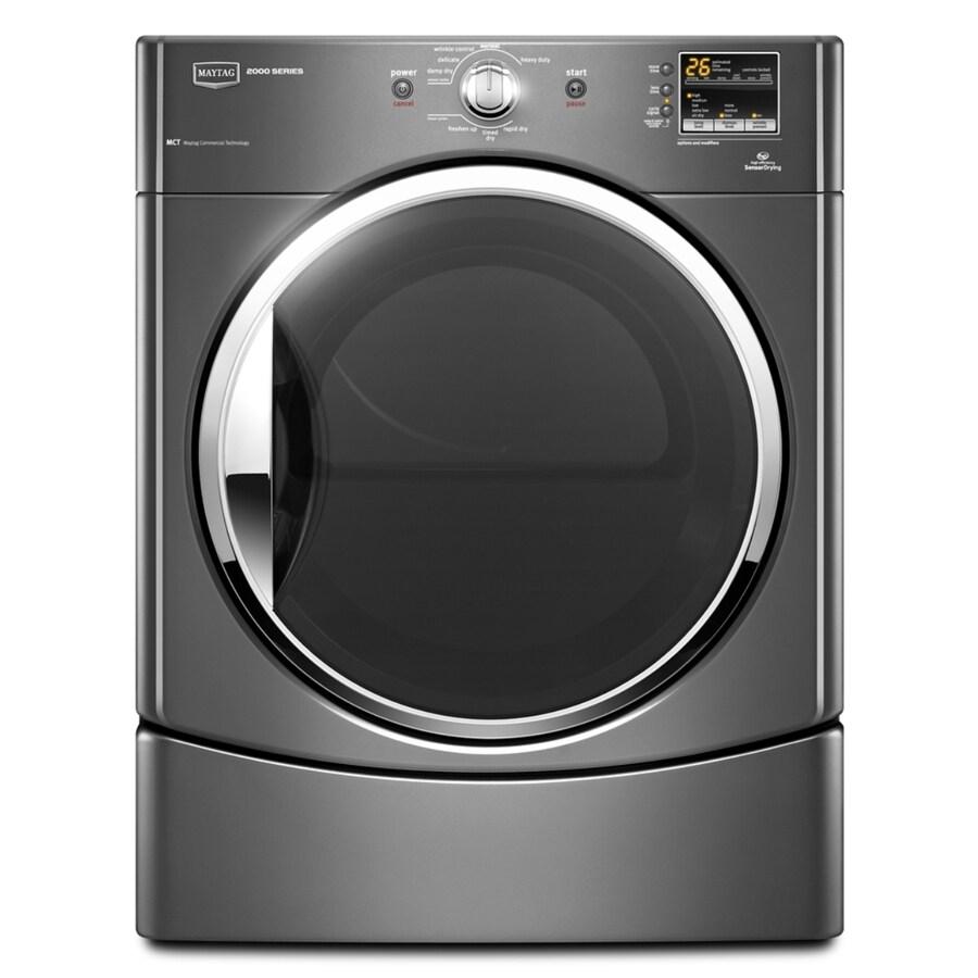 Maytag 6.7-cu ft Stackable Electric Dryer (Granite)