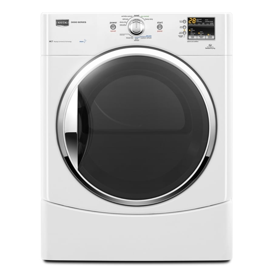 Maytag 6.7 cu ft Electric Dryer (White)
