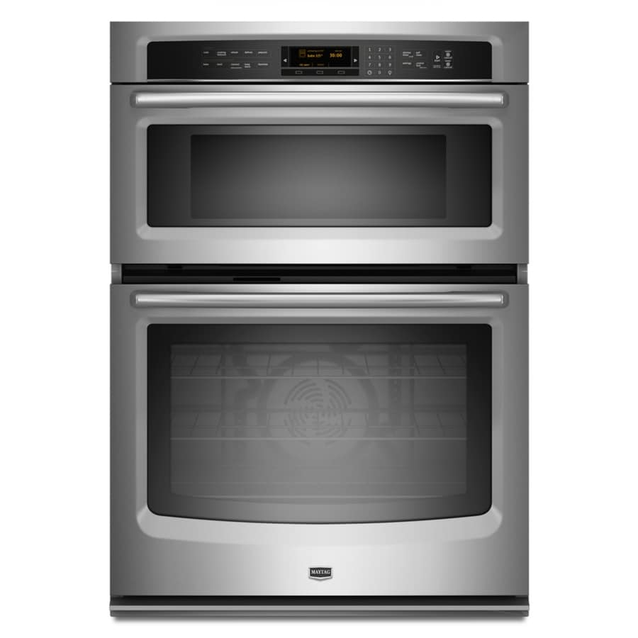 Maytag 30-in Self-Cleaning Microwave Wall Oven Combo (Stainless Steel)