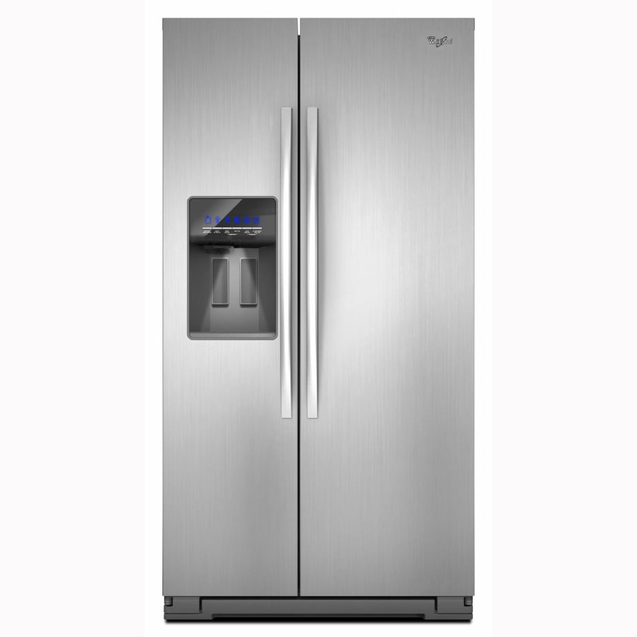 Whirlpool 26.4-cu ft Side-by-Side Refrigerator with Single Ice Maker (Monochromatic Satina Steel)