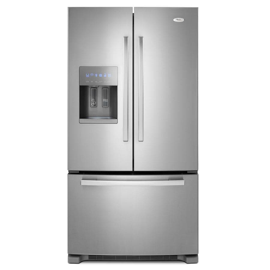 Whirlpool Gold 25.6-cu ft French Door Refrigerator with Ice Maker (Satina Steel)