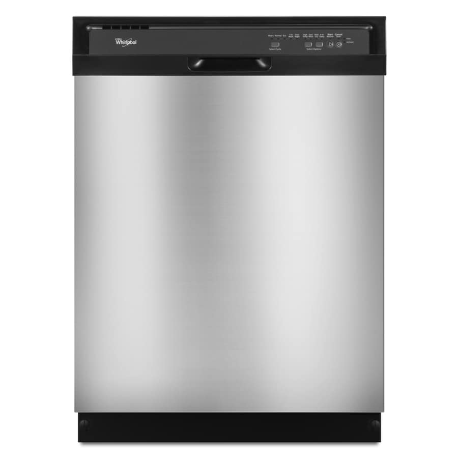 Whirlpool 55-Decibel Built-In Dishwasher (Stainless Steel) (Common: 24-in; Actual: 23.875-in)