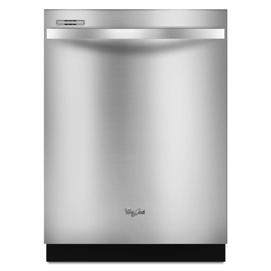 Whirlpool Gold 55-Decibel Built-In Dishwasher (Stainless Steel) (Common: 24-in; Actual: 23.875-in)