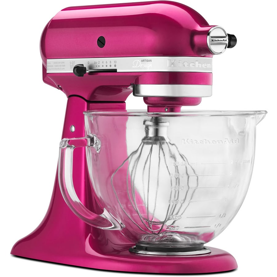 KitchenAid Artisan Designer 5-Quart 10-Speed Raspberry Ice Countertop Stand Mixer