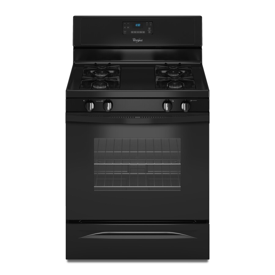 Whirlpool Freestanding 5-cu ft Self-Cleaning Gas Range (Black) (Common: 30-in; Actual: 29.875-in)