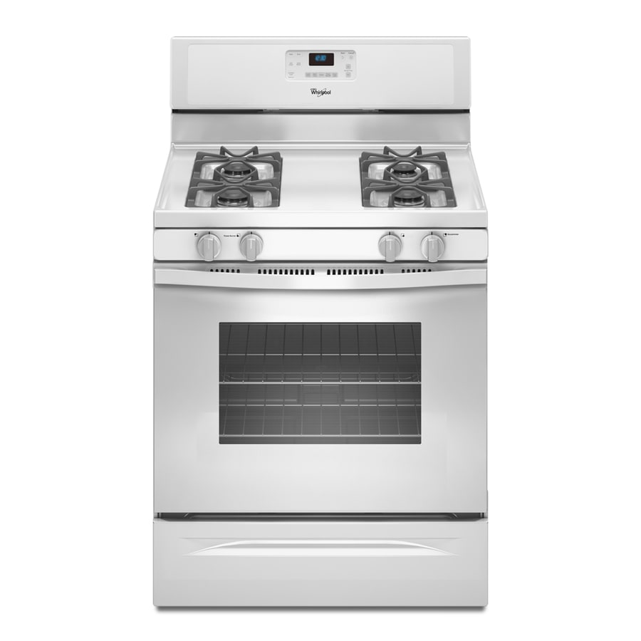 Whirlpool Freestanding 5-cu ft Self-Cleaning Gas Range (White) (Common: 30-in; Actual: 29.875-in)