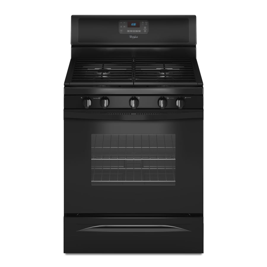 Whirlpool 5-Burner Freestanding 5-cu ft Self-Cleaning Gas Range (Black) (Common: 30-in; Actual: 29.875-in)