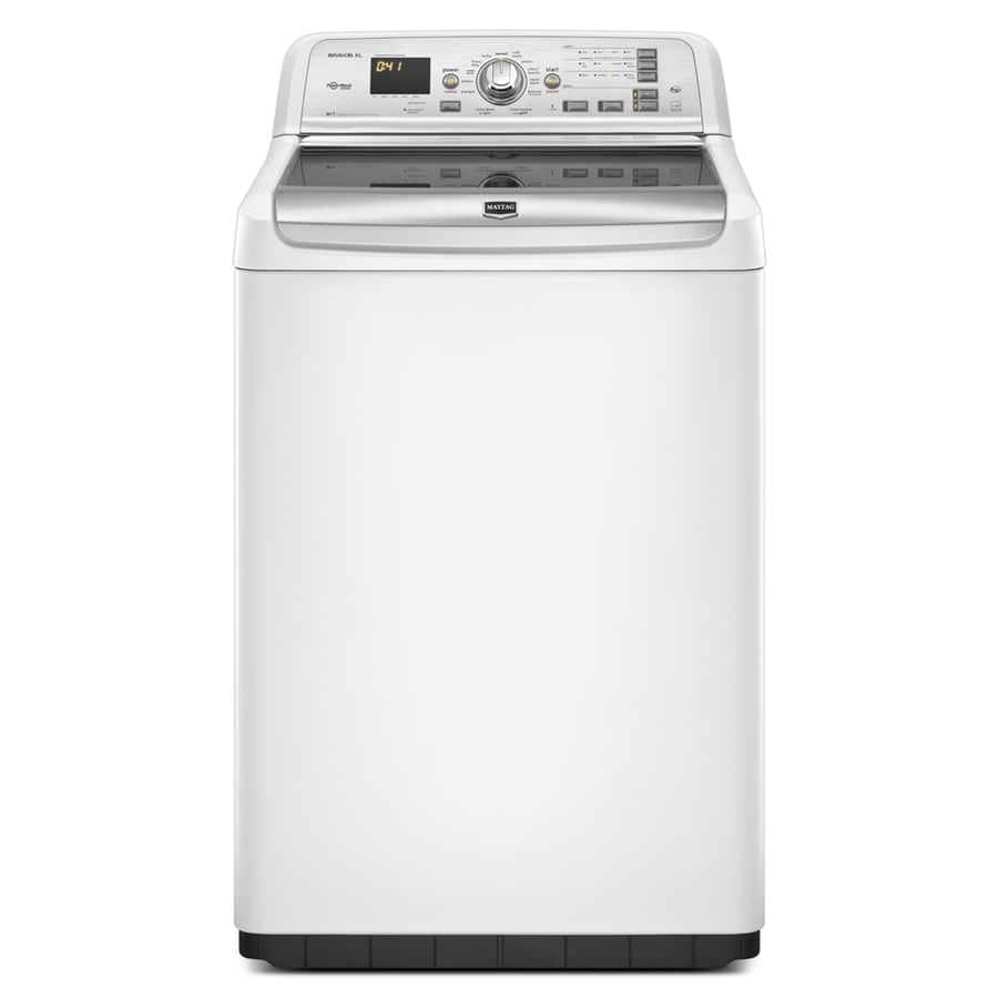 Maytag Bravos 4.6-cu ft High-Efficiency Top-Load Washer (White)