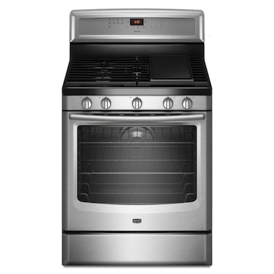5 Burners 5.8-cu ft Self-Cleaning Convection Gas Range (Stainless Steel)  (Common: 30-in; Actual: 29.875-in)
