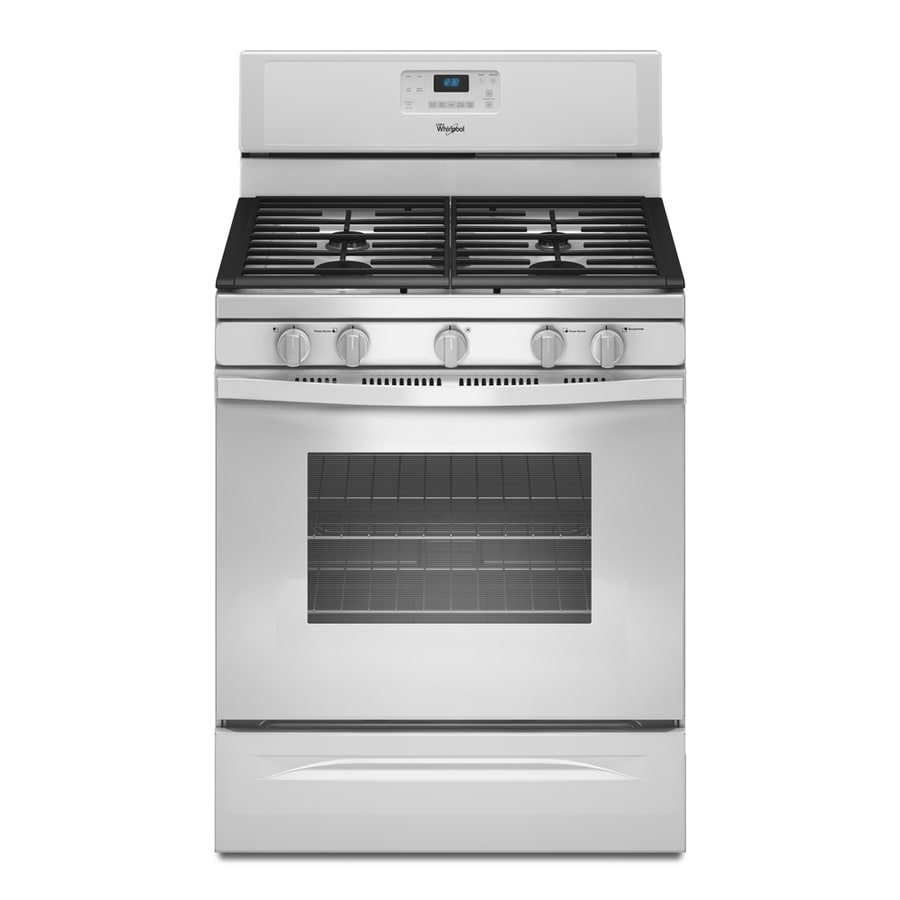 Whirlpool 5-Burner Freestanding 5-cu ft Self-Cleaning Gas Range (White) (Common: 30-in; Actual: 29.875-in)