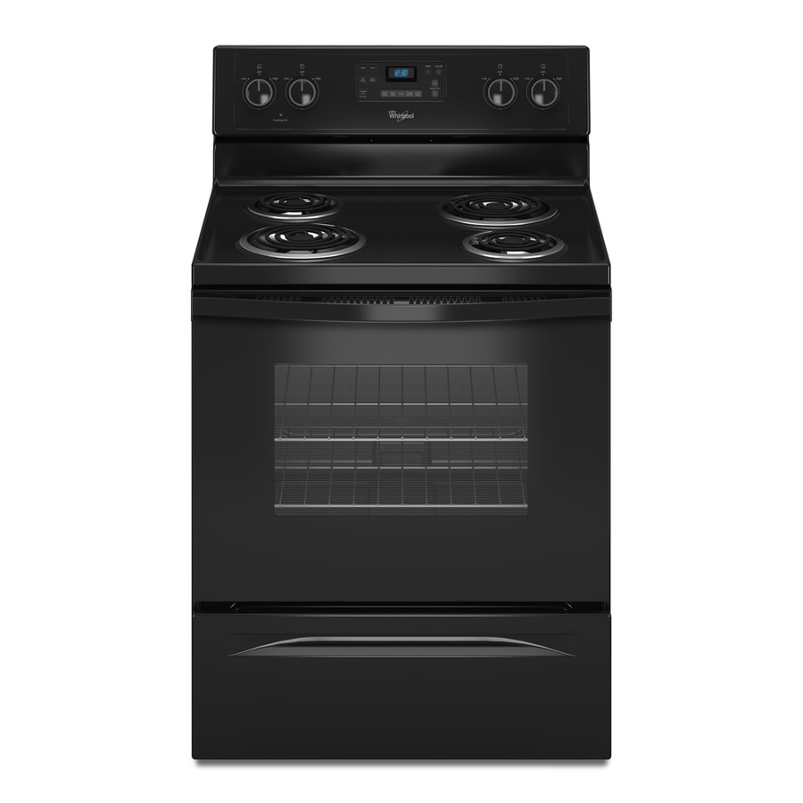 Whirlpool Freestanding 4.8-cu ft Self-Cleaning Electric Range (Black) (Common: 30-in; Actual: 29.87-in)