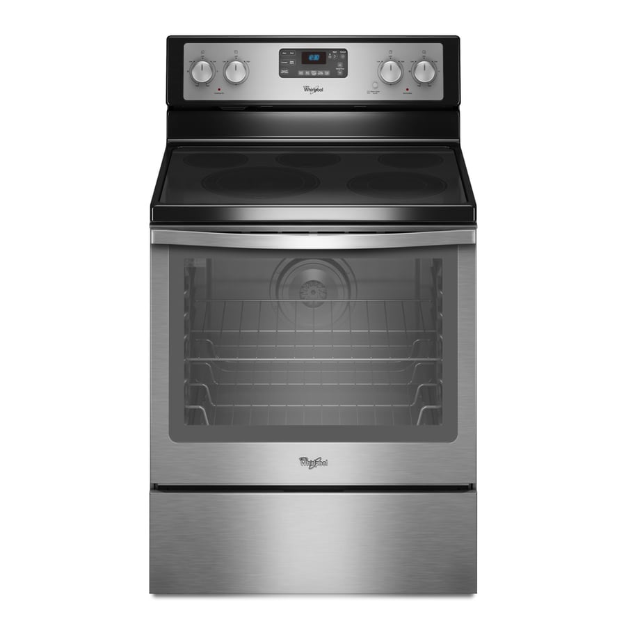 Whirlpool Smooth Surface Freestanding 5-Element 6.2-cu ft Self-Cleaning Convection Electric Range (Stainless Steel) (Common: 30-in; Actual: 29.87-in)