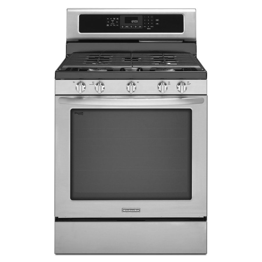 Kitchenaid Architect Ii 5 Burner Freestanding 8 Cu Ft Self Cleaning Convection Gas