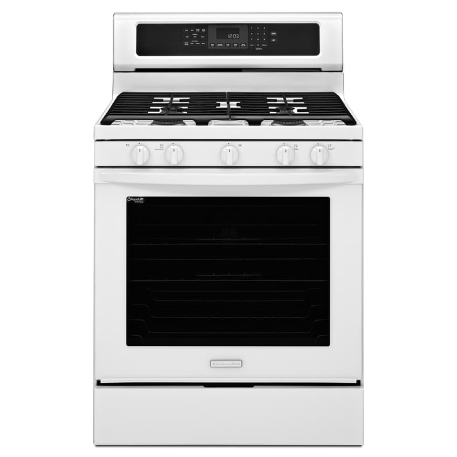KitchenAid Architect II 30-in 5-Burner Freestanding 5.8 cu ft Convection Gas Range (White)
