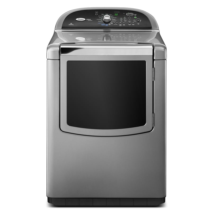 whirlpool cabrio 76cu ft electric dryer with steam cycle chrome