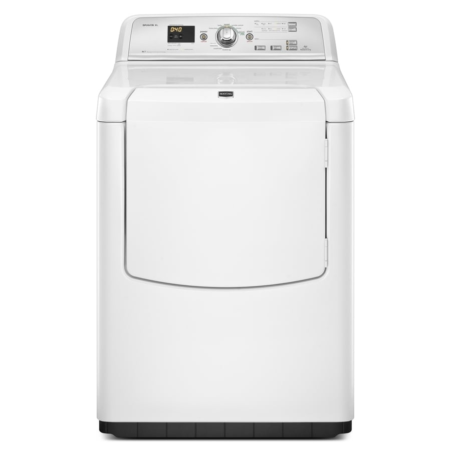 Maytag 7.3-cu ft Electric Dryer (White)