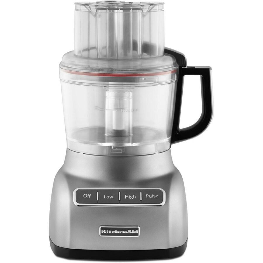 KitchenAid 9-Cup 320-Watt Contour Silver 4-Blade Food Processor