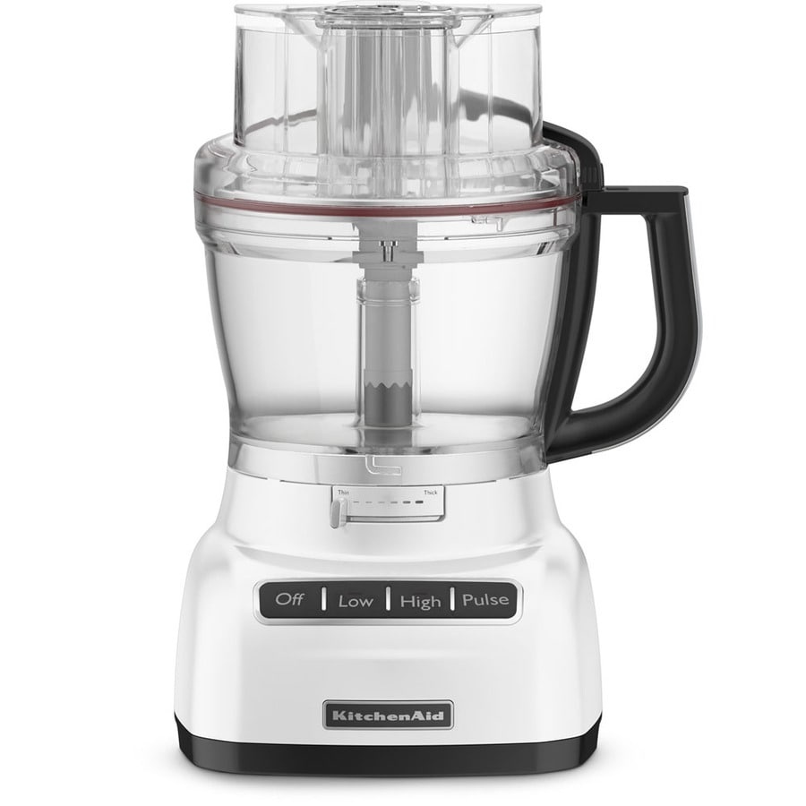 KitchenAid 13-Cup 420-Watt White 5-Blade Food Processor