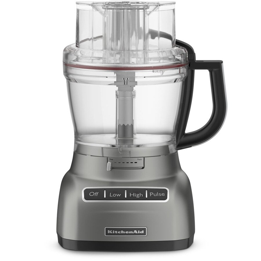 KitchenAid 13-Cup 420-Watt Contour Silver 5-Blade Food Processor