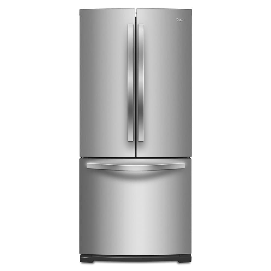 Whirlpool 19.6-cu ft French Door Refrigerator (Monochromatic Stainless Steel) ENERGY STAR