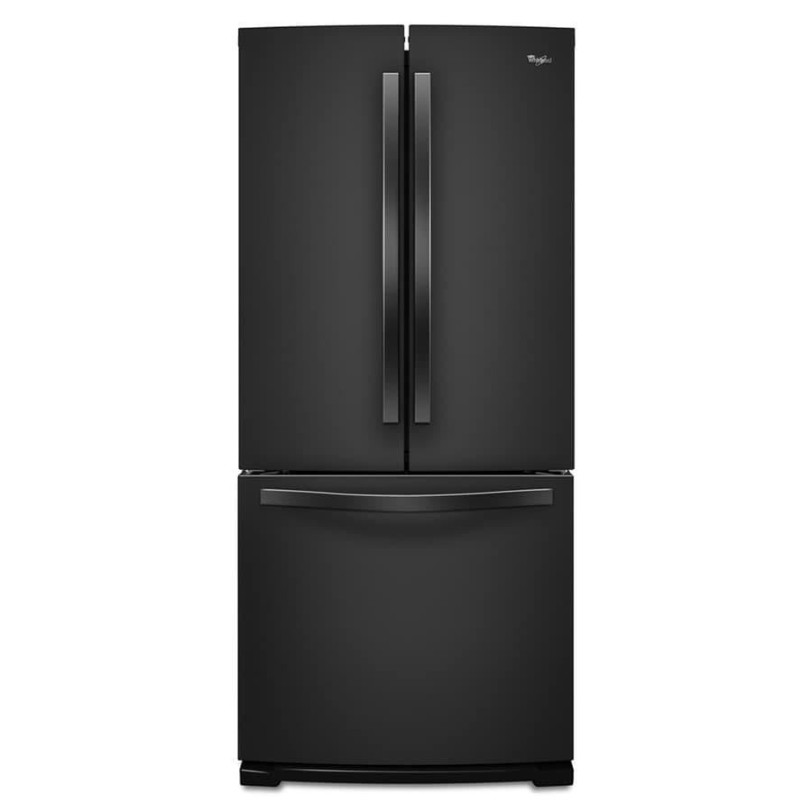 Whirlpool 19.7-cu ft French Door Refrigerator with Ice Maker (Black)