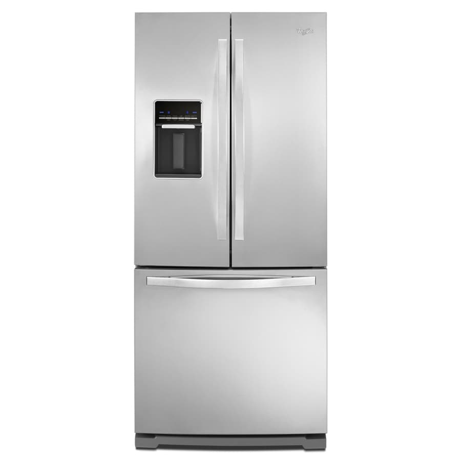 refrigerator 7 5 cu ft. whirlpool 19.7-cu ft french door refrigerator with ice maker (stainless steel) 7 5 cu