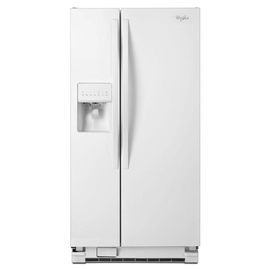 shop whirlpool 21 2 cu ft side by side refrigerator with. Black Bedroom Furniture Sets. Home Design Ideas