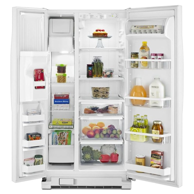 Whirlpool 21.2-cu Ft Side-by-Side Refrigerator With Ice