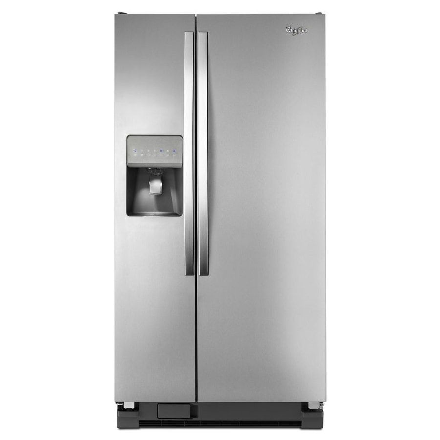 Whirlpool 21.2-cu ft Side-by-Side Refrigerator with Ice Maker (Universal Silver)