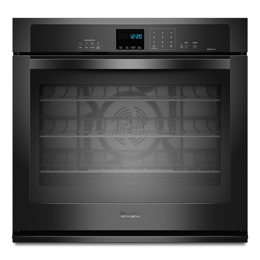 Whirlpool Gold Convection Single Electric Wall Oven (Black) (Common: 27-in; Actual 27-in)