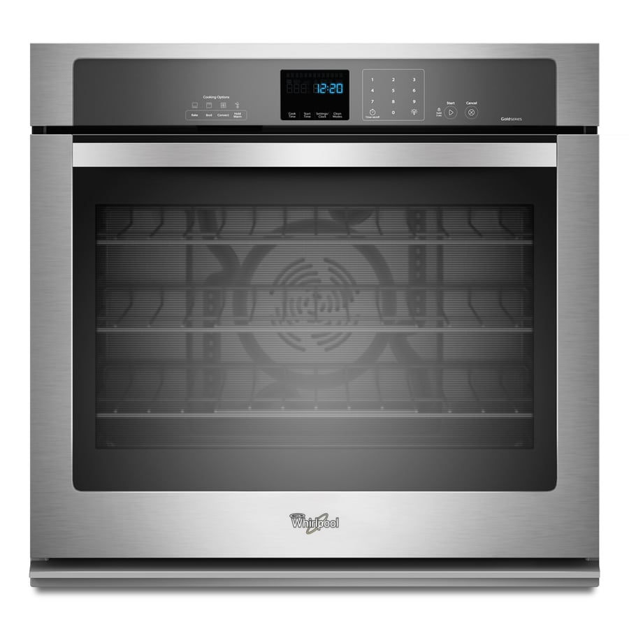Whirlpool Self Cleaning True Convection Single Electric Wall Oven Stainless Steel Common 30 Inch Actual In