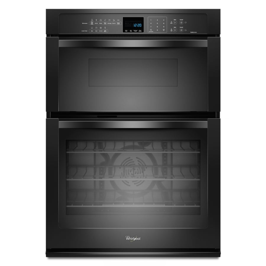 Whirlpool Self-Cleaning Microwave Wall Oven Combo (Black) (Common: 30-in; Actual: 30-in)