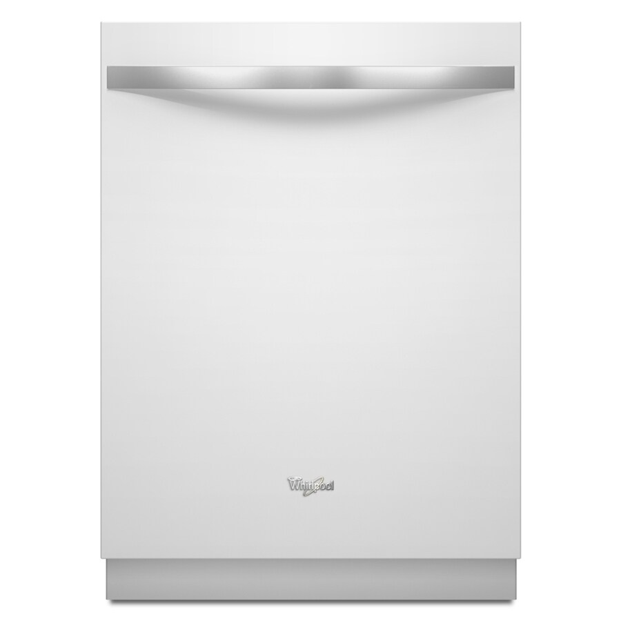 Whirlpool Gold Ice 51-Decibel Built-in Dishwasher with Stainless Steel Tub (White) (Common: 24-in; Actual 23.875-in) ENERGY STAR