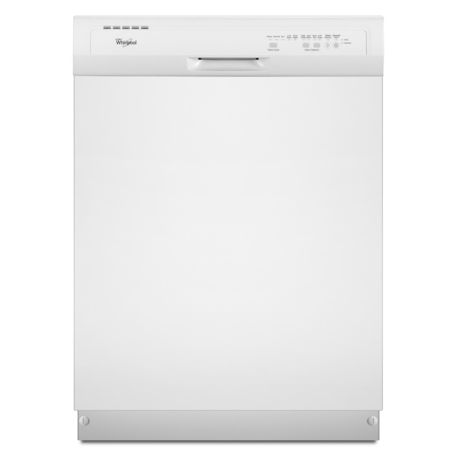 Whirlpool 55-Decibel Built-In Dishwasher (White) (Common: 24-in; Actual: 23.875-in)