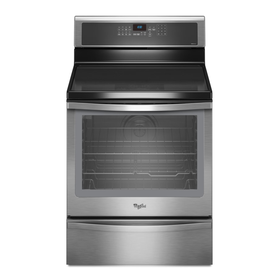 Whirlpool 6 2 Cu Ft Self Cleaning Freestanding Induction Range Stainless Steel Common 30 In Actual 29 875