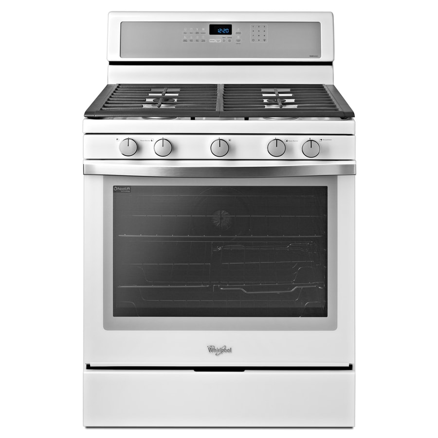 Lowes whirlpool white ice collection - Whirlpool Gold Ice 5 Burner Freestanding 5 8 Cu Self Cleaning Convection Gas Range