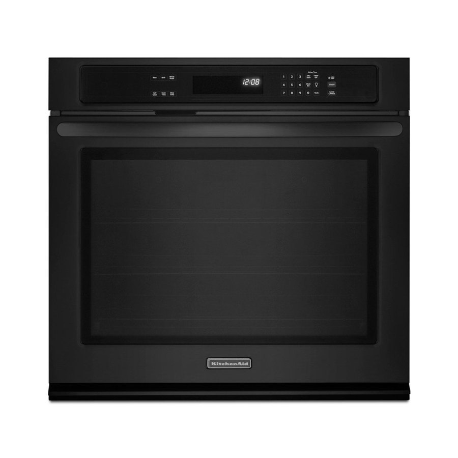 KitchenAid Architect II 27-in Self-Cleaning Single Electric Wall Oven (Black)
