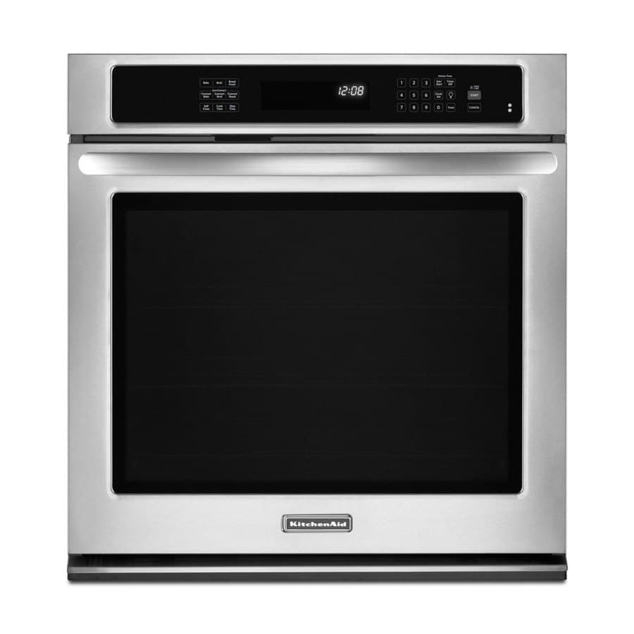 KitchenAid Architect II Self-Cleaning Convection Single Electric Wall Oven (Stainless Steel) (Common: 27-in; Actual 27-in)