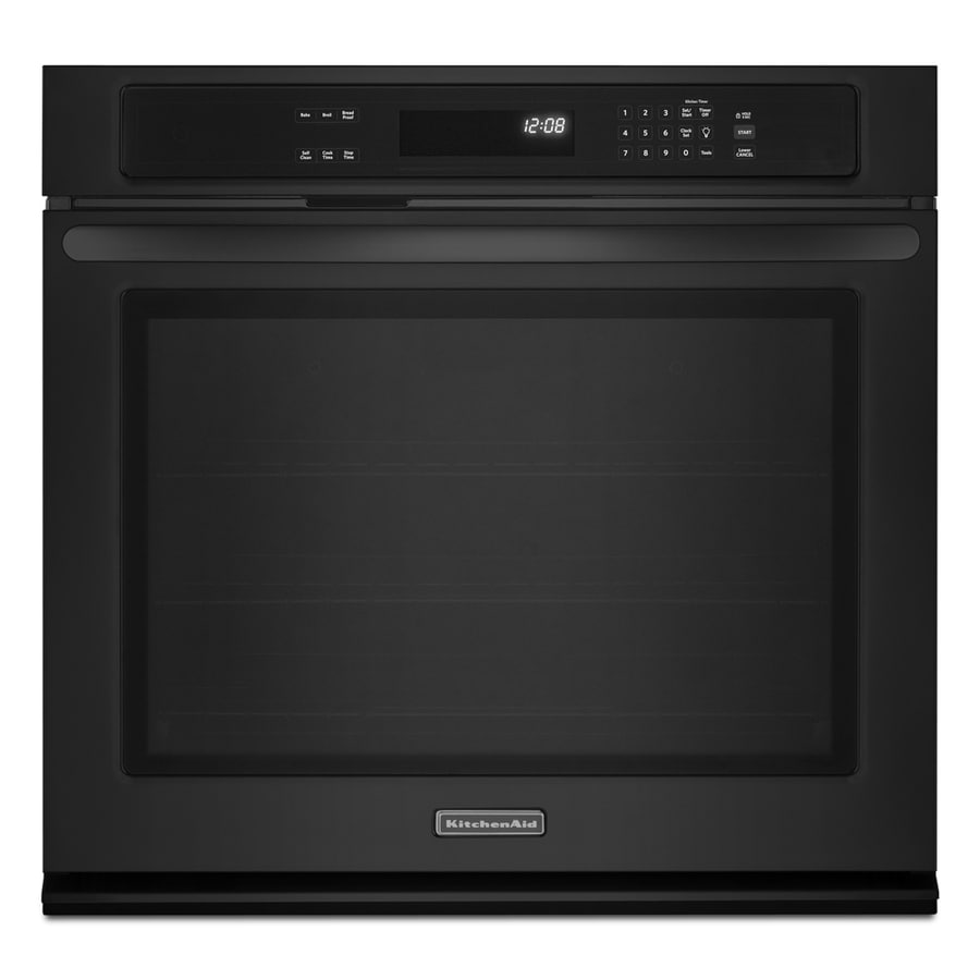 KitchenAid Architect II 30-in Self-Cleaning Single Electric Wall Oven (Black)