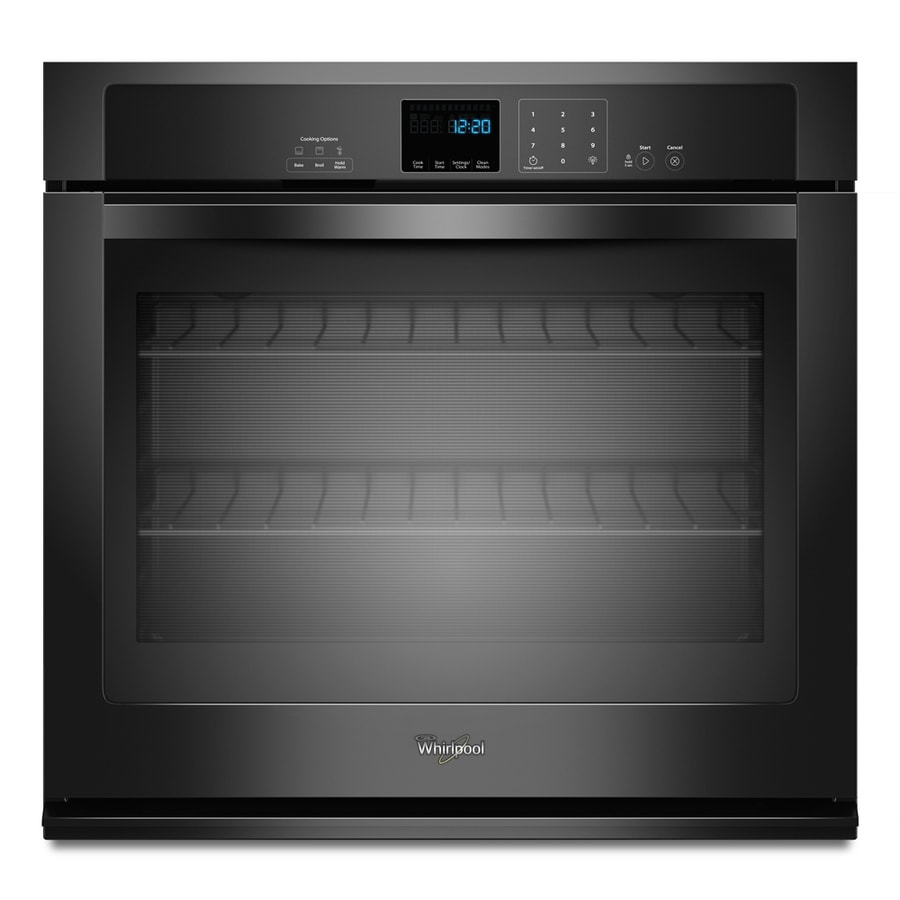 Whirlpool Self-Cleaning Single Electric Wall Oven (Black) (Common: 27-in; Actual 27-in)