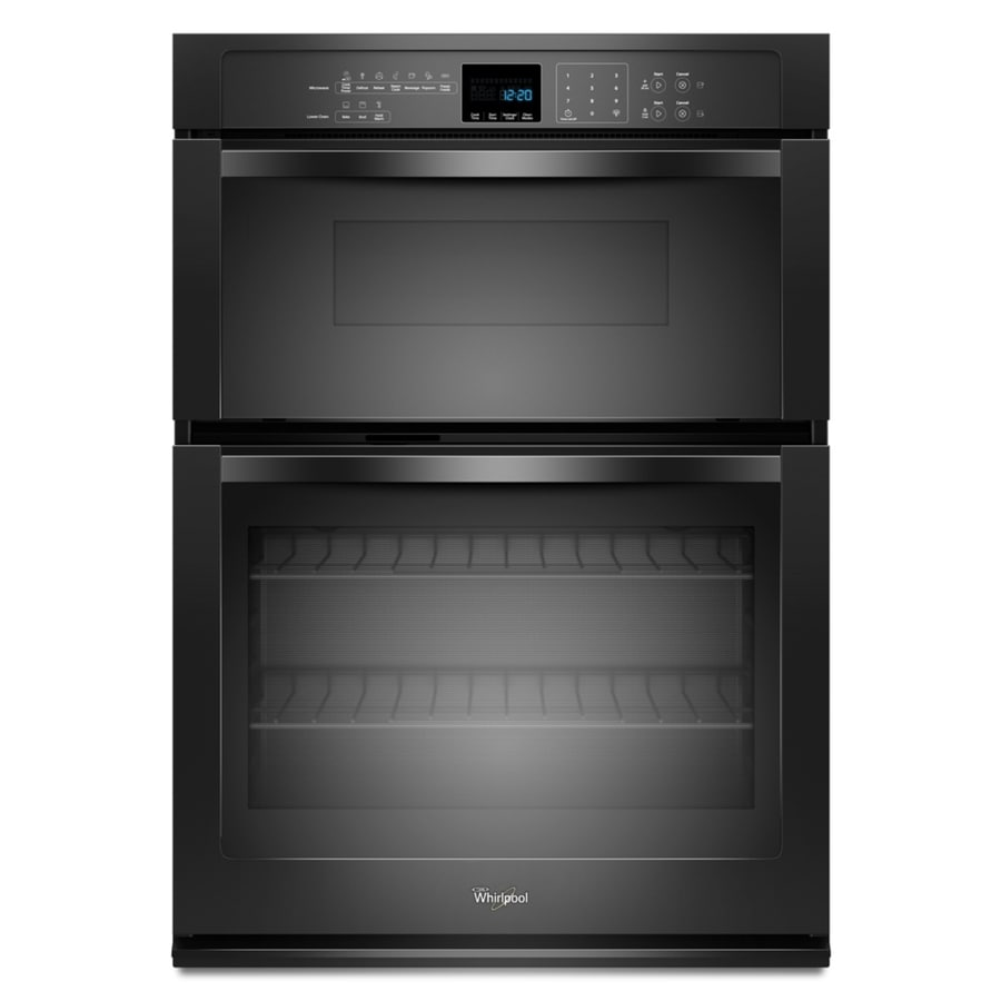 Whirlpool Self-Cleaning Microwave Wall Oven Combo (Black) (Common: 27-in; Actual: 27-in)