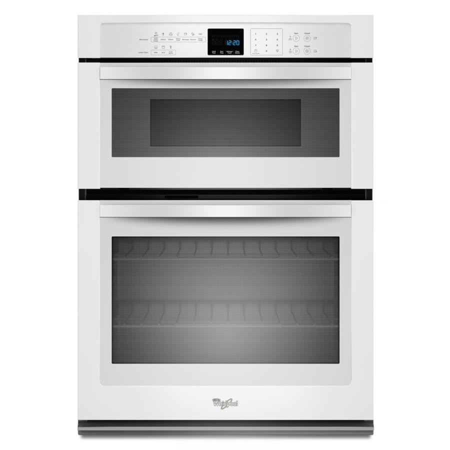 Shop whirlpool self cleaning microwave wall oven combo for Wall oven microwave combo cabinet